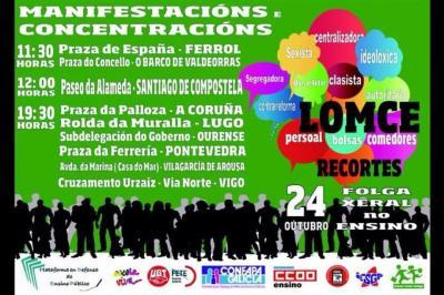 24 Outubro Folga contra a Lomce